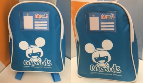 Guarderías Menuts Mochila personalizada de regalo
